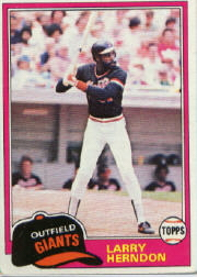 1981 Topps Baseball Cards      409     Larry Herndon