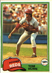 1981 Topps Baseball Cards      419     Tom Hume