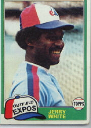 1981 Topps Baseball Cards      042      Jerry White