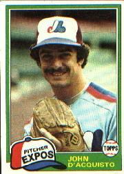 1981 Topps Baseball Cards      427     John D'Acquisto