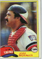1981 Topps Baseball Cards      043      Jose Morales