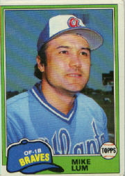 1981 Topps Baseball Cards      457     Mike Lum