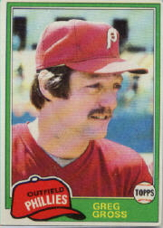 1981 Topps Baseball Cards      459     Greg Gross