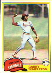 1981 Topps Baseball Cards      485     Garry Templeton