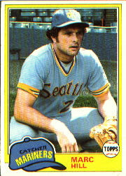 1981 Topps Baseball Cards      486     Marc Hill