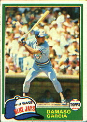 1981 Topps Baseball Cards      488     Damaso Garcia RC