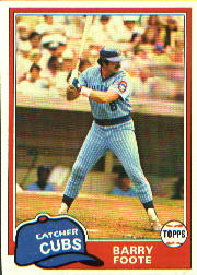 1981 Topps Baseball Cards      492     Barry Foote