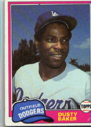 1981 Topps Baseball Cards      495     Dusty Baker