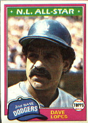 1981 Topps Baseball Cards      050      Dave Lopes