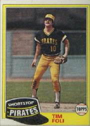 1981 Topps Baseball Cards      501     Tim Foli