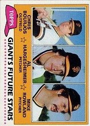 1981 Topps Baseball Cards      502     Chris Bourjos/Al Hargesheimer/Mike Rowland RC