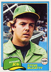 1981 Topps Baseball Cards      503     Steve McCatty
