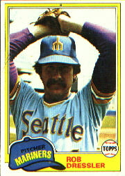 1981 Topps Baseball Cards      508     Rob Dressler