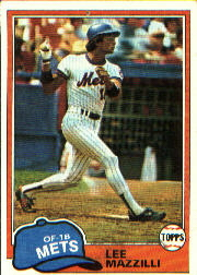 1981 Topps Baseball Cards      510     Lee Mazzilli