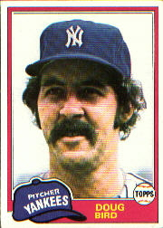 1981 Topps Baseball Cards      516     Doug Bird