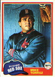 1981 Topps Baseball Cards      525     Mike Torrez
