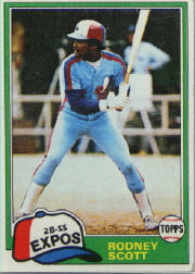 1981 Topps Baseball Cards      539     Rodney Scott