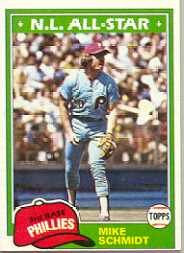 1981 Topps Baseball Cards      540     Mike Schmidt