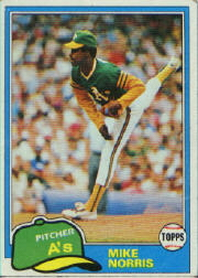 1981 Topps Baseball Cards      055      Mike Norris