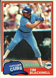 1981 Topps Baseball Cards      553     Tim Blackwell