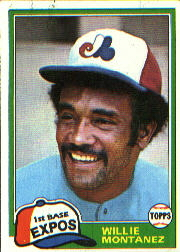 1981 Topps Baseball Cards      559     Willie Montanez