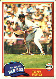 1981 Topps Baseball Cards      575     Tony Perez