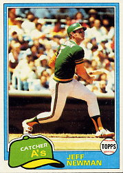1981 Topps Baseball Cards      587     Jeff Newman