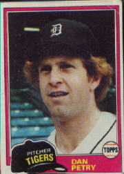 1981 Topps Baseball Cards      059      Dan Petry