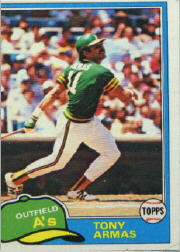 1981 Topps Baseball Cards      629     Tony Armas