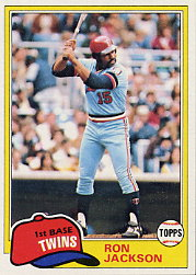 1981 Topps Baseball Cards      631     Ron Jackson