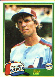 1981 Topps Baseball Cards      633     Bill Lee