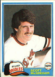 1981 Topps Baseball Cards      065      Scott McGregor