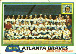 1981 Topps Baseball Cards      675     Braves Team CL#{Bobby Cox MG