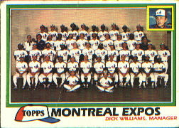 1981 Topps Baseball Cards      680     Expos Team CL#{Dick Williams MG