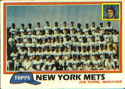 1981 Topps Baseball Cards      681     Mets Team CL#{Joe Torre MG