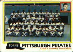1981 Topps Baseball Cards      683     Pirates Team CL#{Chuck Tanner MG