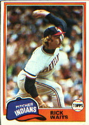 1981 Topps Baseball Cards      697     Rick Waits
