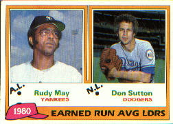 1981 Topps Baseball Cards      007      Rudy May/Don Sutton LL