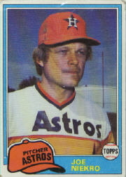 1981 Topps Baseball Cards      722     Joe Niekro