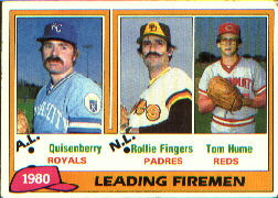 1981 Topps Baseball Cards      008      Dan Quisenberry/Rollie Fingers/Tom Hume LL