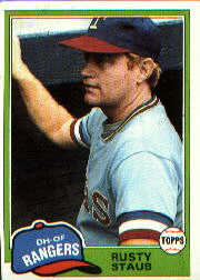 1981 Topps Baseball Cards      080      Rusty Staub