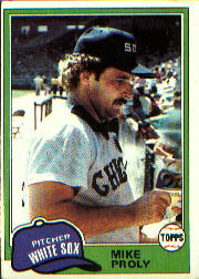 1981 Topps Baseball Cards      083      Mike Proly