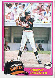 1981 Topps Baseball Cards      084      Johnnie LeMaster