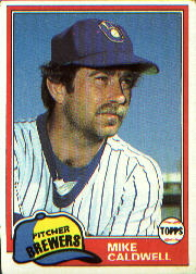1981 Topps Baseball Cards      085      Mike Caldwell