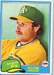 1981 Topps Baseball Cards      086      Wayne Gross
