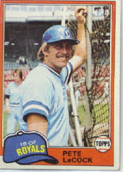 1981 Topps Baseball Cards      009      Pete LaCock