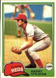 1981 Topps Baseball Cards      094      Harry Spilman