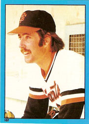 1982 Topps Baseball Stickers     107     Greg Minton