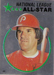 1982 Topps Baseball Stickers     121     Pete Rose FOIL