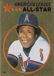 1982 Topps Baseball Stickers     131     Rod Carew FOIL
